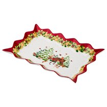 Блюдо Для Слоеных Салатов Xmas, 25*15 см Высота 3,5 см - Jinding Handicraft