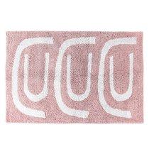 Коврик для ванной Go round цвета пыльной розы Cuts&Pieces, 60х90 см - Tkano