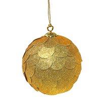 Шар новогодний декоративный Paper ball, золотой - EnjoyMe