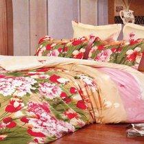 Комплект постельного белья С-147, цвет персиковый, размер 1.5-спальный - Valtery