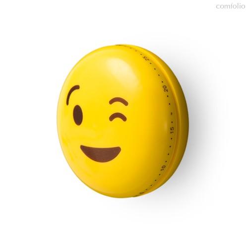 Таймер механический Emoji Wink, цвет желтый - Balvi
