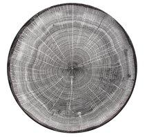 Тарелка круглая 27 cм, серия WOODART, цвет серый - RAK Porcelain