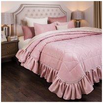 Комплект На Кровать Из Покрывала И 2-Х Нав Барокко 250Х230,50Х70-2Шт,Розовый, 100% Пэ, цвет розовый, 230x250 - Santalino