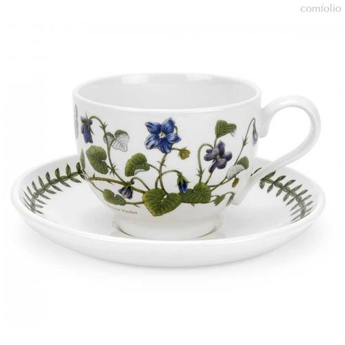 """Чашка чайная с блюдцем Portmeirion """"Ботанический сад. Фиалка"""" 280мл - Portmeirion"""