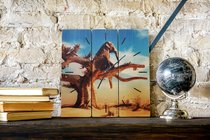 Слон на дереве 30х30 см, 30x30 см - Dom Korleone