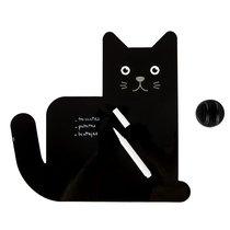 Магнитная доска с маркером Meow! черная, цвет черный - Balvi