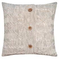 "Вязаный чехол для подушки ""Эрида"", 45х45 см, 02-V653/1, цвет серый - Altali"