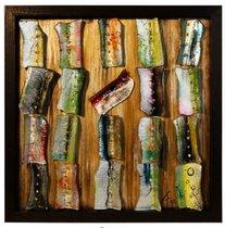 Картина стеклянная Пэчворк 50х50см - Top Art Studio