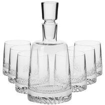 """Набор графин 0,95л и 6 стаканов для виски 300мл Krosno """"Фьорд"""" п/к - Krosno"""