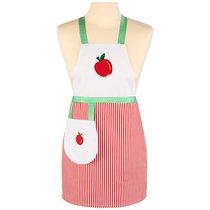 Фартук маленький декоративный фруктовый сад ,белый\красный, 100%хлопок, - Santalino