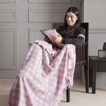 "Плед KARNA хлопок ""ISABELLA"" 130x150 см, цвет розовый, 130 x 150 - Bilge Tekstil"