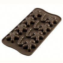 Форма для приготовления конфет Mr Ginger силиконовая - Silikomart