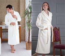 Домашний халат Karna Mora, цвет кремовый, размер L - Karna (Bilge Tekstil)