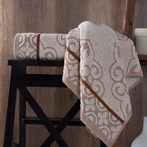 "Полотенце махровое ""KARNA"" TUNUS 70x140 см 1/1, цвет коричневый, 70x140 - Bilge Tekstil"