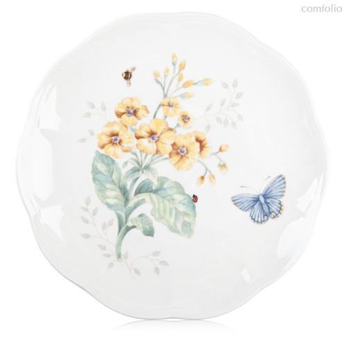 "Тарелка акцентная Lenox ""Бабочки на лугу"" 23см, цвет желтый, 23 см - Lenox"
