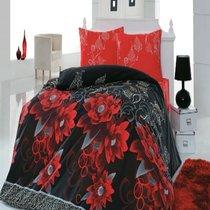КПБ COTTON LIFE 1,5 сп. (50*70/2 шт.) CASABLANCA, цвет красный, 1.5-спальный - Meteor Textile
