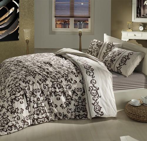 Постельное белье Ranforce Suave, цвет коричневый, размер 1.5-спальный - Altinbasak Tekstil