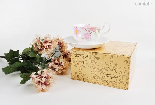Чайная пара для завтрака Цветущая магнолия 400 мл - Top Art Studio