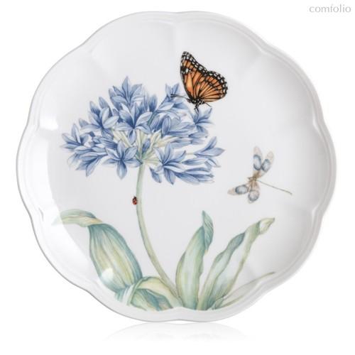 "Тарелка акцентная Lenox ""Бабочки на лугу"" 23см, цвет голубой, 23 см - Lenox"