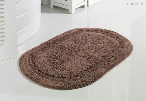 """Коврик для ванной """"MODALIN"""" кружевной RACET 60x100 см 1/1, цвет кофейный, 60x100 - Bilge Tekstil"""