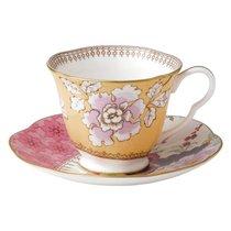 Чашка чайная с блюдцем Wedgwood Бабочки и цветы 180мл, фарфор - Wedgwood