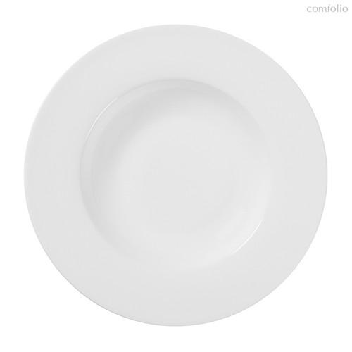 Тарелки глубокие с широким римом 23 см, цвет белый - Top Art Studio