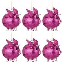 Декоративное Изделие Свинка-Ангел Цвет Красный Набор Из 6Шт 9x6 см Высота 9,5 см - Polite Crafts&Gifts