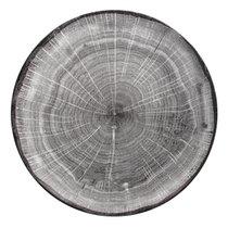 Тарелка круглая 24 cм, серия WOODART, цвет серый - RAK Porcelain