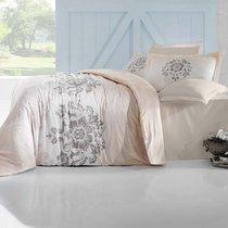 Постельное белье Altinbasak Ilma, сатин, цвет кремовый, размер 2-спальный - Altinbasak Tekstil
