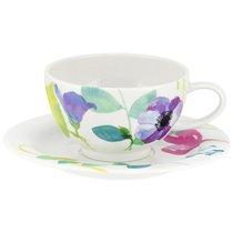 """Чашка для завтрака с блюдцем Portmeirion """"Водный сад"""" 300мл - Portmeirion"""