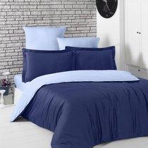 Постельное белье Karna Loft, двухстороннее, цвет голубой/темно-синий, 2-спальный - Karna (Bilge Tekstil)