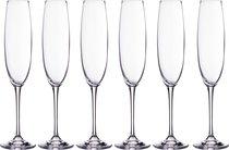 Набор бокалов для шампанского из 6 шт. ESTA/FULICA 250 мл ВЫСОТА 28 см - Crystalite Bohemia