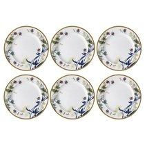 """Набор тарелок закусочных Rosenthal """"Турандот"""" 22см (белая, золотой кант), 6 шт - Rosenthal"""