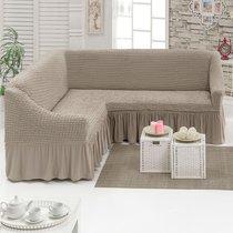 Чехол д/мягкой мебели Угловой (3 местный ) 1 пр. JUANNA, цвет какао - Meteor Textile