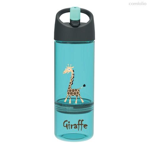 Детская бутылка 2в1 Carl Oscar Giraffe бирюзовая, цвет бирюзовый - Carl Oscar