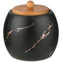 Сахарница Коллекция Золотой Мрамор Цвет: Black 9,5x10,2 см