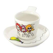 Набор 2шт чашек для кофе с блюдцем 0,18л Eclipse ornament - BergHOFF