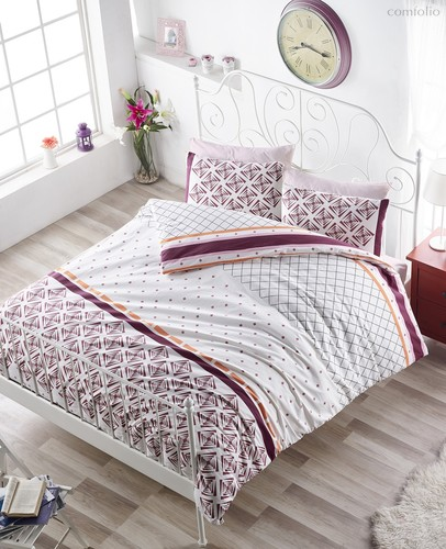 Постельное белье Ranforce Hera, цвет бордовый, размер 1.5-спальный - Karna (Bilge Tekstil)