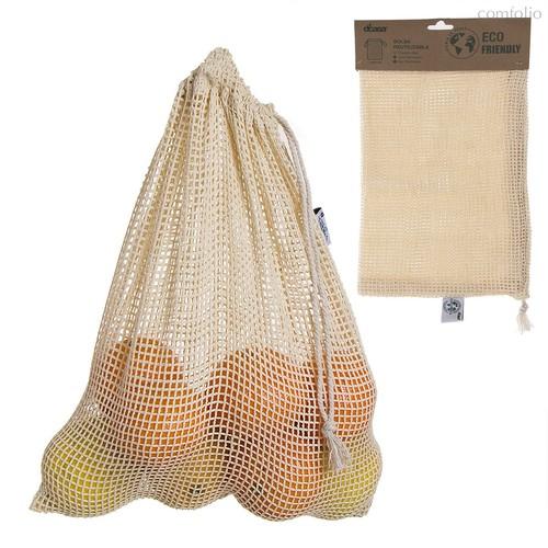 Мешочек для хранения фруктов и овощей Eco Life 30x40см, цвет бежевый - D'casa