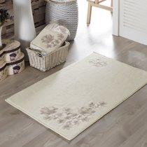 Французский кружевной коврик Senses, махровый, цвет кремовый, размер 60x90 - Irya