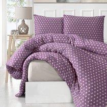 Постельное белье Karna Yumse, цвет фиолетовый, размер Евро - Karna (Bilge Tekstil)
