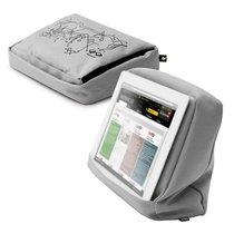 Подушка-подставка с карманом для планшета Hitech 2 серебристая-черная - Bosign