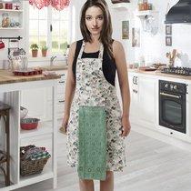 Фартук кухонный Karna с салфеткой 30x50, цвет светло-зеленый - Karna (Bilge Tekstil)