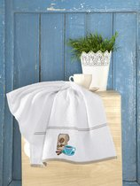 "Кухонные полотенца махровые ""KARNA"" BREAKFAST 45х70 см 1/1, цвет белый - Bilge Tekstil"