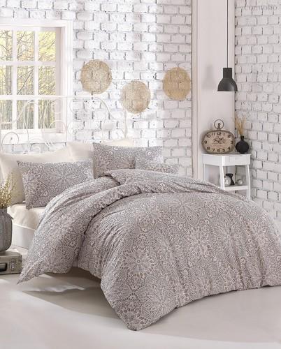 Постельное белье Ranforce Rozi, цвет бежевый, размер 1.5-спальный - Altinbasak Tekstil