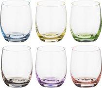 Набор стаканов ДЛЯ ВИСКИ из 6 шт. RAINBOW 300 мл ВЫСОТА 9 см - Crystalex