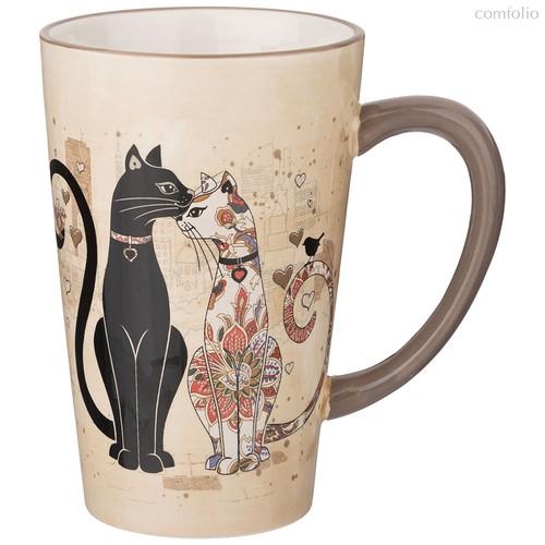 Кружка Парижские Коты 13,5x9,5x14,5 см / 530 мл - Huachen Ceramics