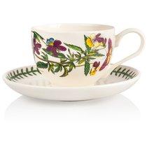 "Чашка для завтрака с блюдцем Portmeirion ""Ботанический сад.Фиалка трехцветная"" 280мл - Portmeirion"