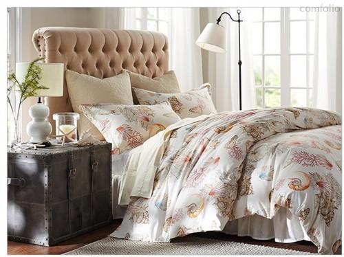 Комплект постельного белья С-171, цвет кремовый, размер Евро - Valtery