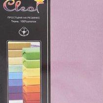 Простыня Cleo трикотажная на резинке 90*200*25 (сиреневый) 9/04, цвет сиреневый, размер 90x200x25 - Cleo